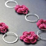 Cerise Pink Flower Necklace