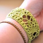 Lace Cuff with Vintage Buck..